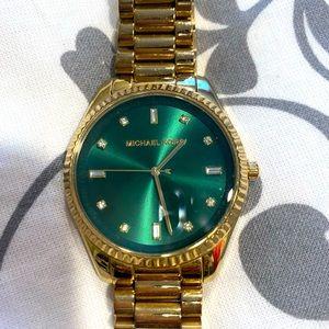 Michael Kors - Very gently used Blake bracelet watch in emerald green face